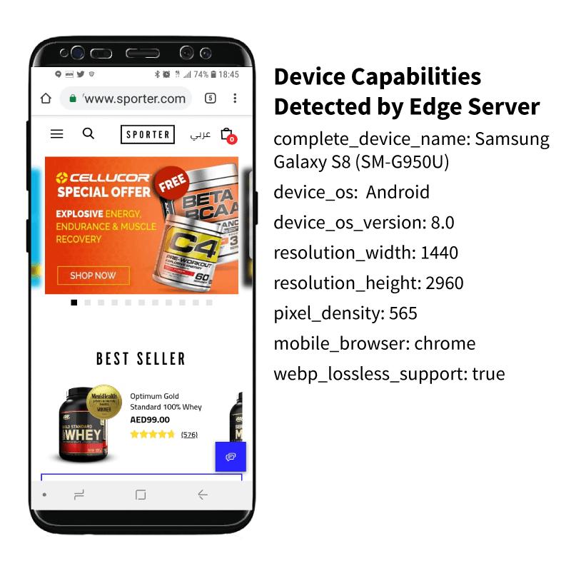 Samsung S8 device capabilities